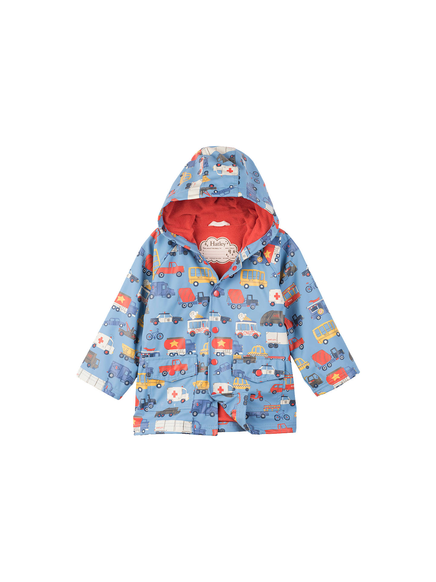 3c1a9dc81 Buy Hatley Boys' Car Print Rain Coat, Blue, 2 years Online at johnlewis ...
