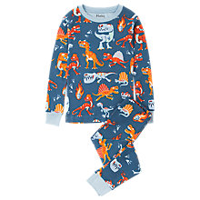 Buy Hatley Children's Dinosaur Hunt Long Sleeve Pyjamas, Blue Online at johnlewis.com