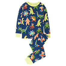 Buy Hatley Children's Mega Monsters Pyjamas, Blue Online at johnlewis.com