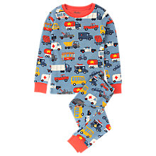 Buy Hatley Children's City Cars Long Sleeve Pyjamas, Blue Online at johnlewis.com