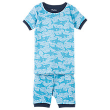 Buy Hatley Children's Sharks Short Pyjamas, Blue Online at johnlewis.com