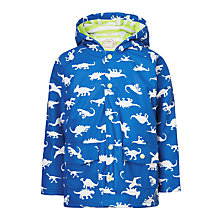 Buy Hatley Boys' Dinosaur Print Classic Rain Coat, Blue Online at johnlewis.com