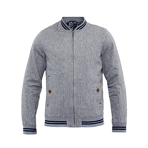 Buy Ted Baker New York Linen Blend Bomber Jacket Online at johnlewis.com