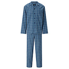 Buy John Lewis Wroxham Check Pyjamas, Blue Online at johnlewis.com