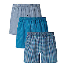 Buy John Lewis Multi Pattern Woven Cotton Boxers, Pack of 3, Navy Online at johnlewis.com