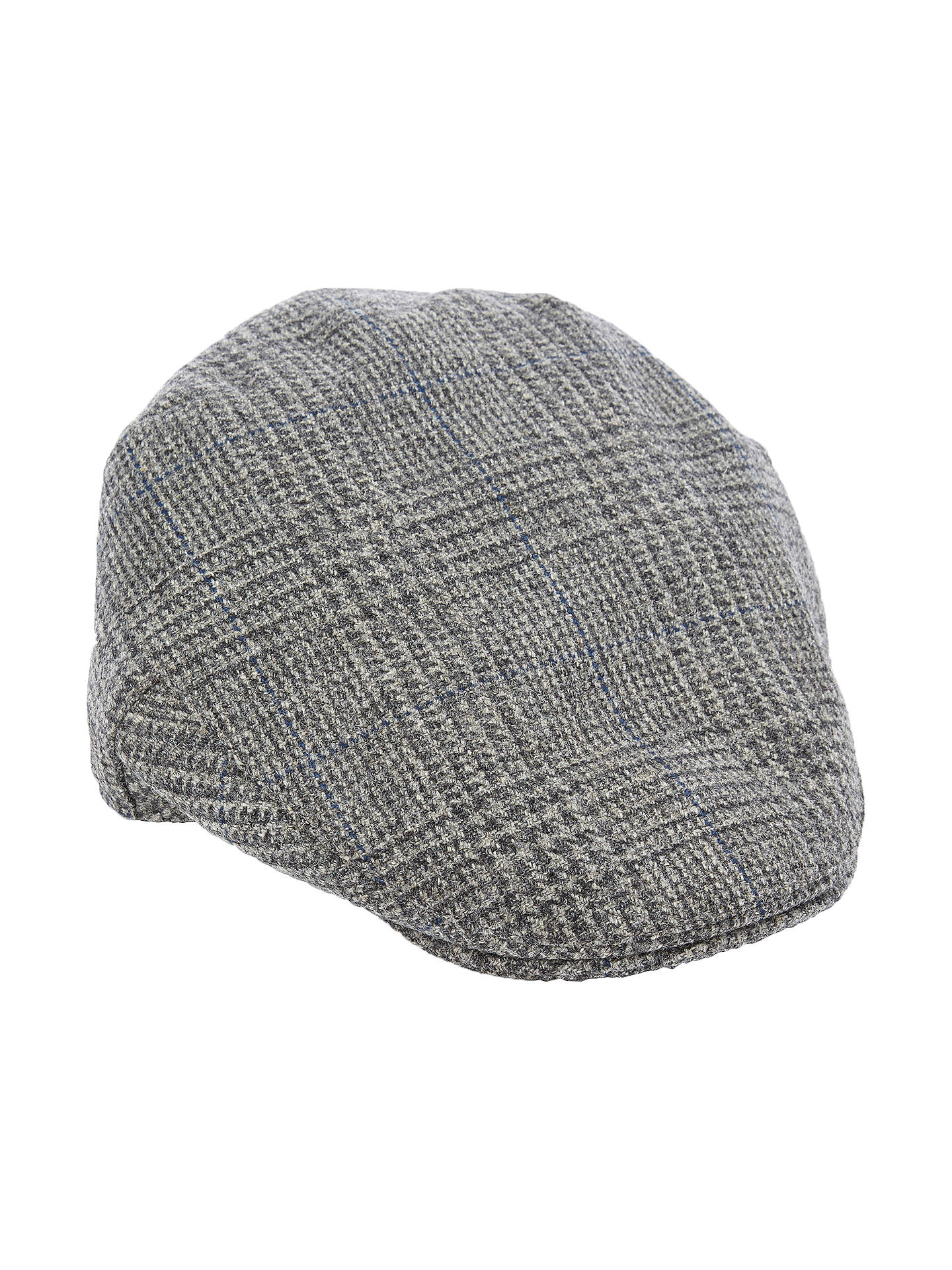 BuyChristys  Balmoral Wool Houndstooth Flat Cap 77b3cd7b2a17