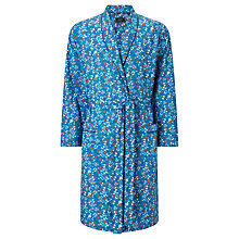 Buy John Lewis Flower Power Robe, Blue/Burgundy Online at johnlewis.com