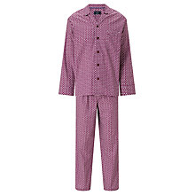 Buy John Lewis Elephant Print Pyjamas, Burgundy Online at johnlewis.com