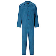 Buy John Lewis Pin Spot Pyjamas, Blue/Gold Online at johnlewis.com