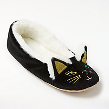 Buy John Lewis Cat Ballet Slippers, Black Online at johnlewis.com