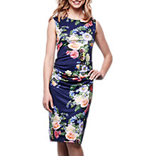 Buy Yumi Floral Bodycon Dress, Navy Online at johnlewis.com