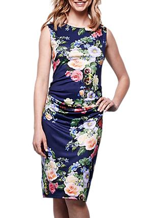 Yumi Floral Bodycon Dress, Navy