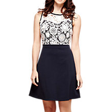 Buy Yumi Floral Lace Top Dress, Dark Navy Online at johnlewis.com