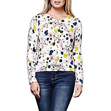 Buy Yumi Nouveau Floral Printed Cardigan, Ivory Online at johnlewis.com