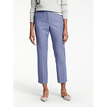 Buy Boden British Tweed 7/8 Trousers, Blue/Ivory Online at johnlewis.com