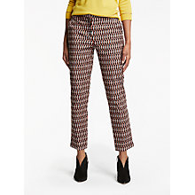 Buy Boden Richmond 7/8 Crescent Geo Trousers, Autumn Brown Online at johnlewis.com