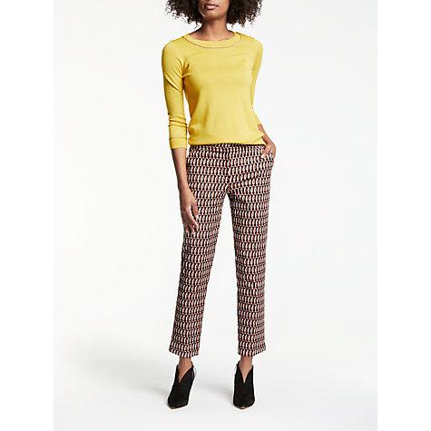 buy boden richmond 7 8 crescent geo trousers autumn brown