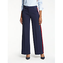 Buy Boden Charlbury Wide Leg Trousers, Navy Online at johnlewis.com