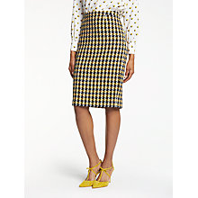 Buy Boden Freya Pencil Skirt, Navy/Yellow Check Online at johnlewis.com