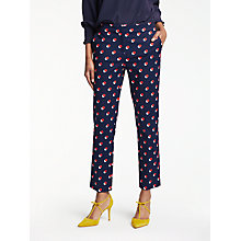 Buy Boden Richmond 7/8 Shadow Spot Trousers, Navy Online at johnlewis.com