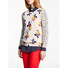 Buy Boden Rafaela Floral Printed Jumper, Saffron Bloom Online at johnlewis.com