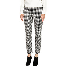 Buy Phase Eight Tyna Gingham Trousers, Black/Ivory Online at johnlewis.com