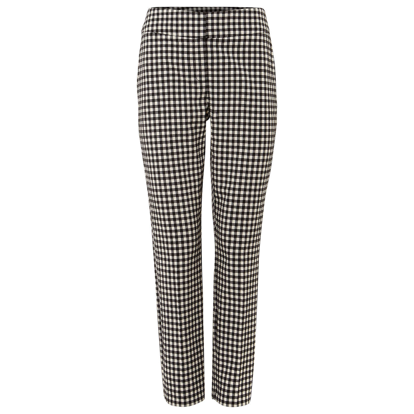 BuyPhase Eight Tyna Gingham Trousers, Black/Ivory, 8 Online at johnlewis.com