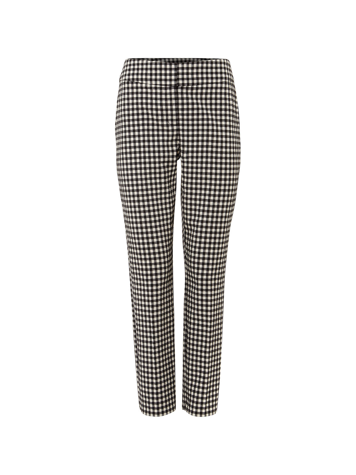 BuyPhase Eight Tyna Gingham Trousers, Black/Ivory, 10 Online at johnlewis.com
