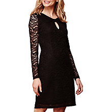 Buy Yumi Long Sleeve Bodycon Lace Dress, Black Online at johnlewis.com