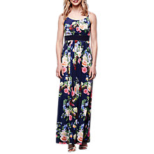 Buy Yumi Floral Maxi Dress, Navy Online at johnlewis.com