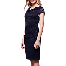 Buy Yumi Lace Cowl Neck Bodycon Dress, Navy Online at johnlewis.com