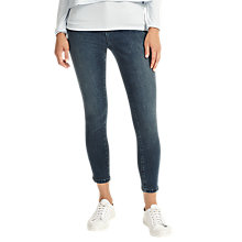 Buy Phase Eight Aida Cropped Zip Hem Jeans, Denim Blue Online at johnlewis.com