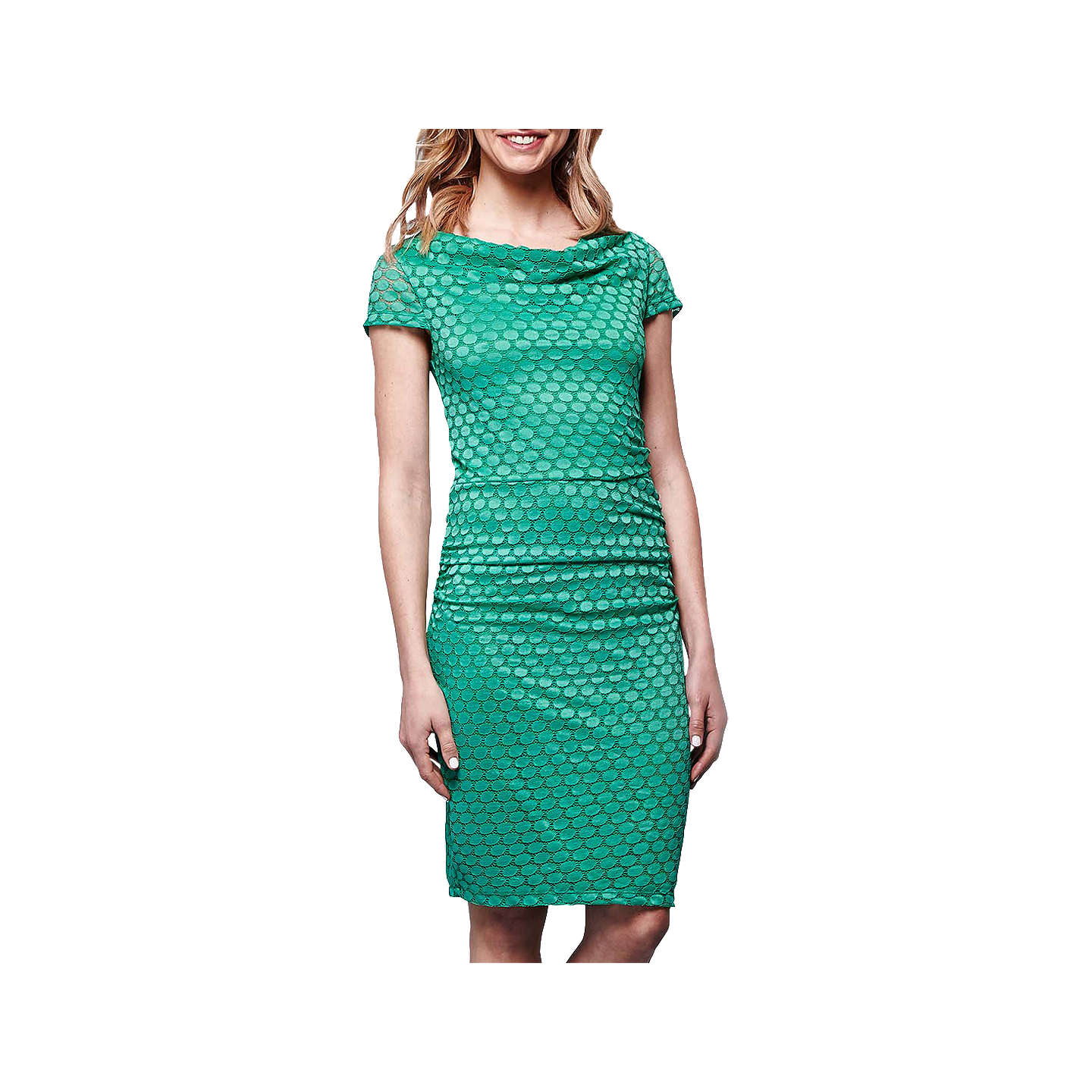 Yumi Lace Cowl Neck Bodycon Dress, Jade at John Lewis