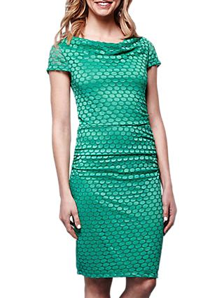 Yumi Lace Cowl Neck Bodycon Dress, Jade
