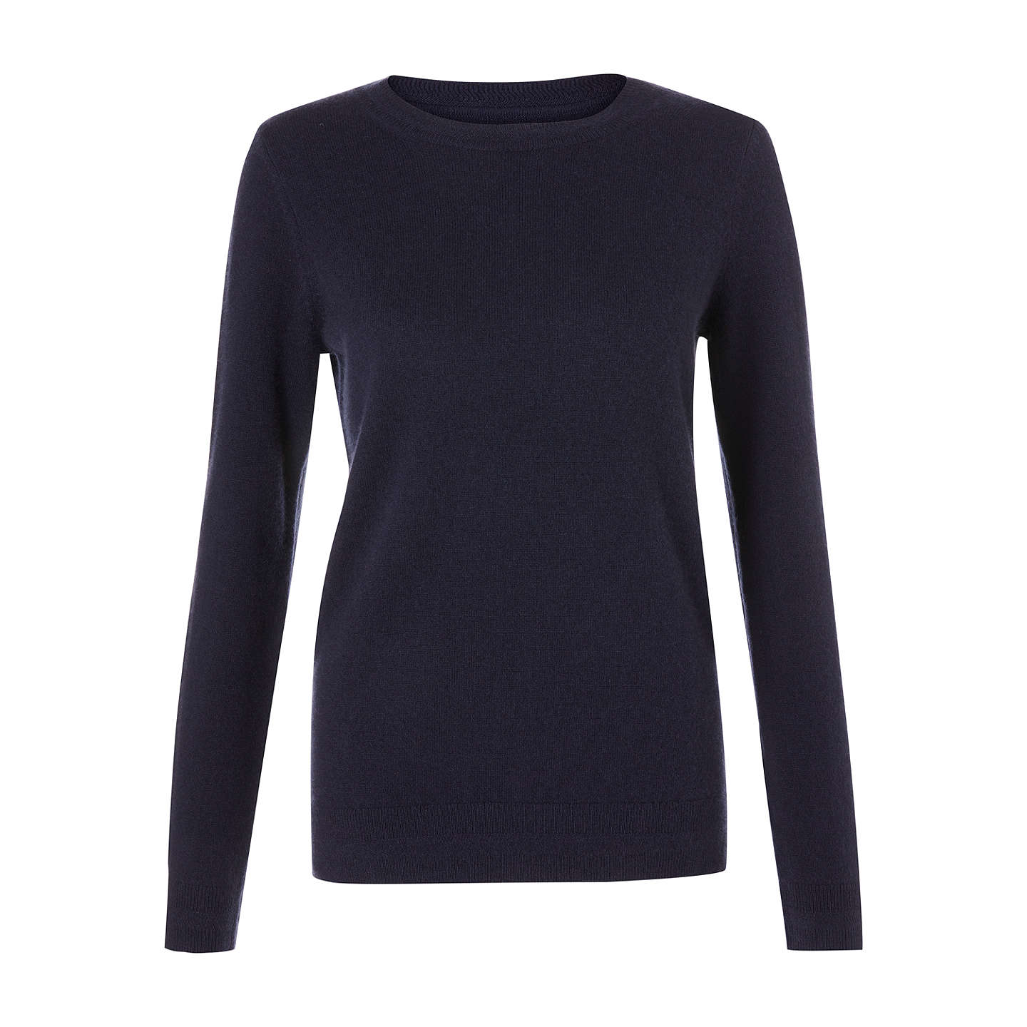 BuyBoden Cashmere Crew Neck Jumper, Navy, XS Online at johnlewis.com