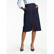 Buy Boden Bloomsbury Denim Skirt, Indigo Denim Online at johnlewis.com