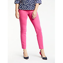Buy Boden Hampshire 7/8 Trousers, Party Pink Online at johnlewis.com