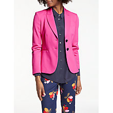 Buy Boden Elizabeth Ponte Blazer, Party Pink Online at johnlewis.com