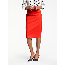 Buy Boden Richmond Pencil Skirt, Post Box Red Online at johnlewis.com
