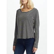 Buy Thought Bamboo Base Layer Jersey Top, Charcoal Stripe Online at johnlewis.com