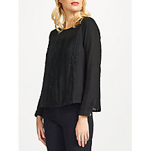 Buy Thought Verity Organic Cotton Blouse, Black Online at johnlewis.com