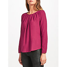 Buy Thought Katherine Organic Cotton Blouse, Ruby Online at johnlewis.com