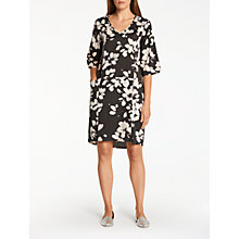 Buy Thought Marin Floral Print Dress, Black/White Online at johnlewis.com