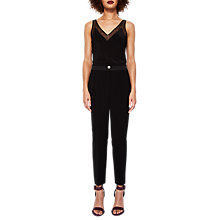 Buy Ted Baker Ottoman Tailored Trousers, Black Online at johnlewis.com