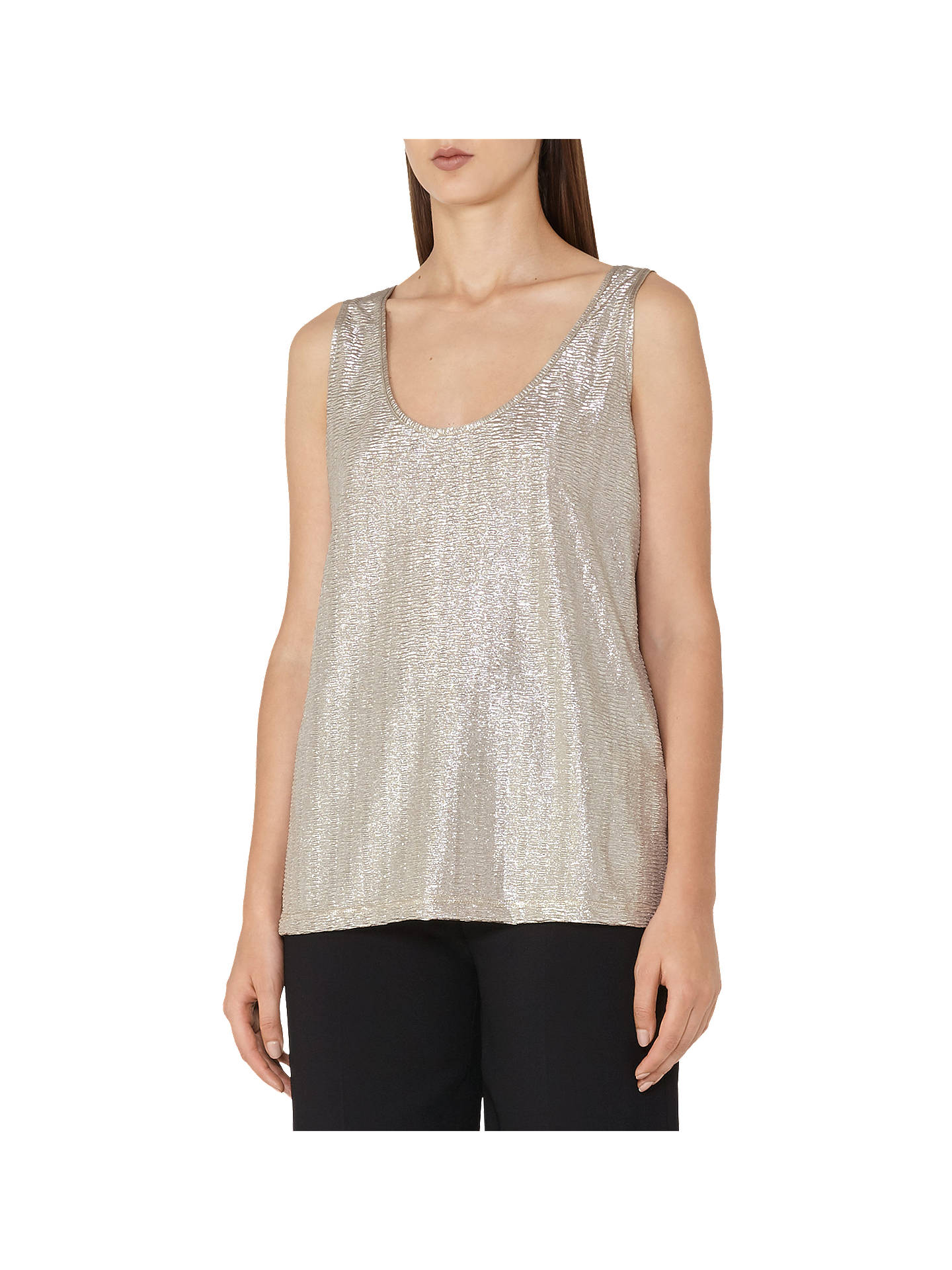 7d30add9f6fc4 Buy Reiss Gemma Metallic Front Vest Top
