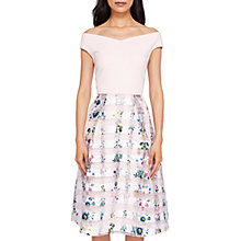 Buy Ted Baker Unity Floral Bardot Dress, Nude Pink Online at johnlewis.com