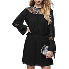 Buy Reiss Rexie Lace Insert Dress, Black Online at johnlewis.com