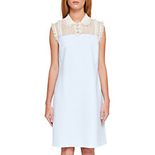 Buy Ted Baker Kyilee Frill Detail Tunic Dress, Pale Blue Online at johnlewis.com