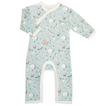 Buy Pigeon Organics Baby Dragonfly Long Sleeve Romper, Blue Online at johnlewis.com