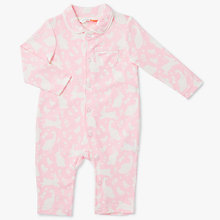 Baby toddler rompers playsuits easter toys gifts john lewis buy john lewis baby jersey spring time romper pink online at johnlewis negle Image collections